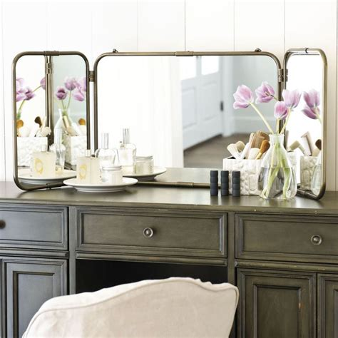 tri fold mirror bathroom tri fold vanity mirror