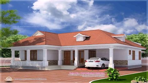 single floor 4 bedroom house plans kerala kerala style 4 bedroom house plans single floor youtube