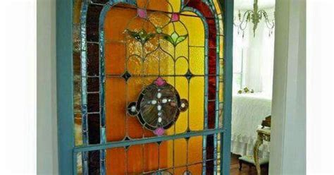 Stained Glass Sliding Barn Door Cool House And Property Stained Glass Sliding Doors