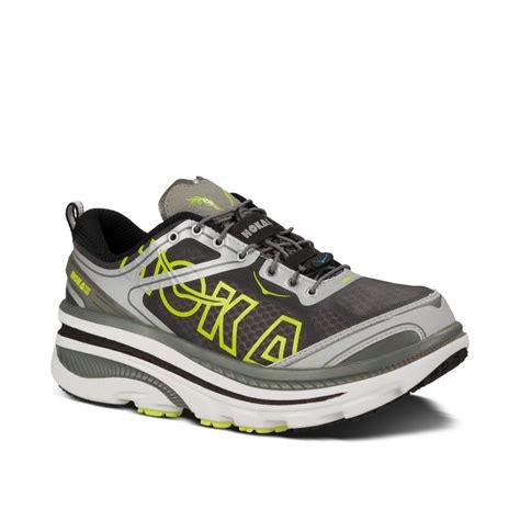 hoka road running shoes buy hoka bondi 3 mens running shoes in white silver citrus