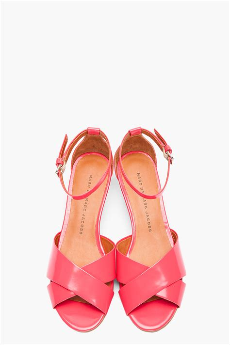 marc by marc low wedge sandals in pink lyst