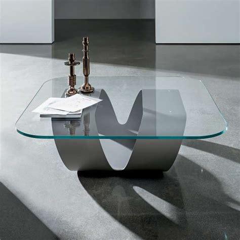 table basse design en verre ring sovet 4 pieds