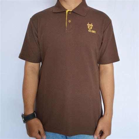 Kaos Oblong Lacoste poloshirt bandung oblong coklat 022 cowok