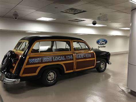 Ford World Headquarters Garage by The Walter Reuther Woodie Santa Woodies