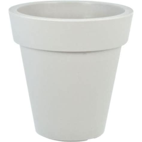 White Planters Home Depot by Mela 15 In Dia White Plastic Planter 83300 The Home Depot
