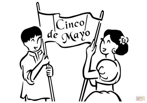 imagenes del 5 de mayo para colorear dibujo de pancarta del 5 de mayo para colorear dibujos
