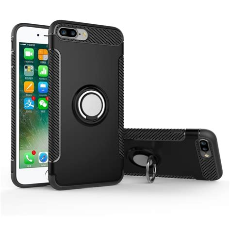 for iphone 7 plus magnetic 360 degree rotation ring armor protective black alex nld