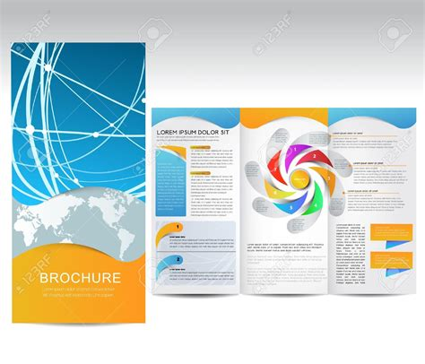 brochure layout design template vector marketing brochure templates set 1
