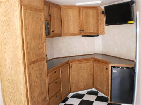 trailer kitchen cabinets enclosed trailer cabinets diy bar cabinet care partnerships