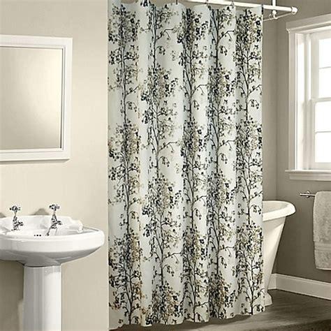 white spa shower curtain dean shower curtain in white bed bath beyond
