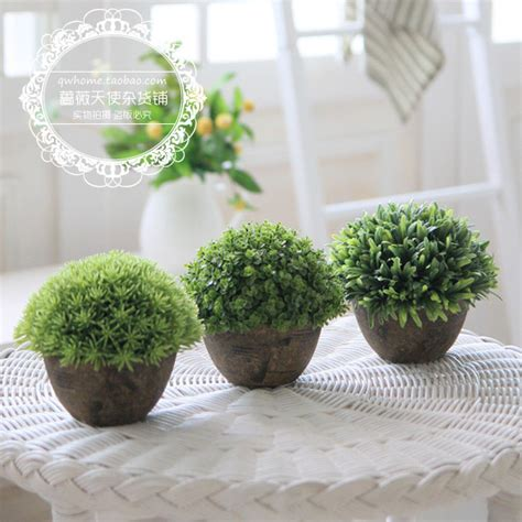 Home Decor With Plants Free Shipping For Za Kka Vintage Artificial Plants Home Decoration Small Bonsai Balcony Shelf