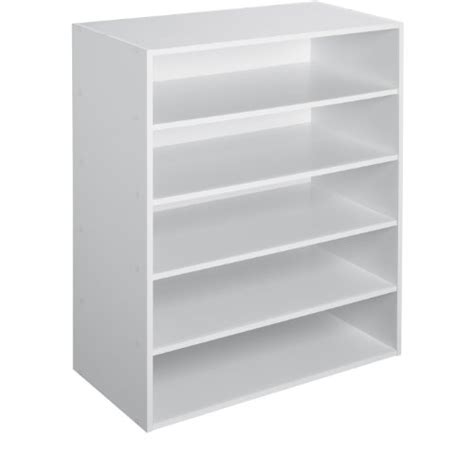 Stackable Closet Shelves by New Closetmaid Stackable 5 Shelf Organizer White Free