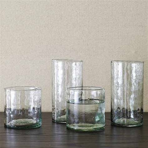 designer barware recycled glass drinkware