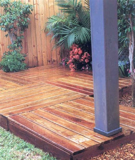 temporary deck portable deck outdoor wood plans immediate download