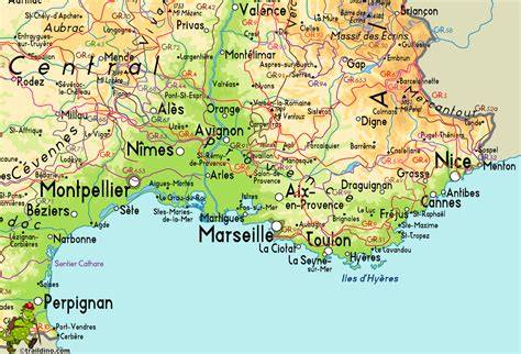 Map Of The South Of France south france map recana masana