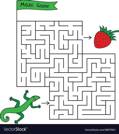 printable lizard maze cartoon lizard maze game royalty free vector image