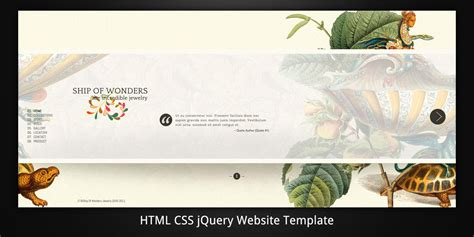 Ship Of Wonders Scrollable Html5 Website Template By Virtuti Themeforest Themeforest Html5 Templates
