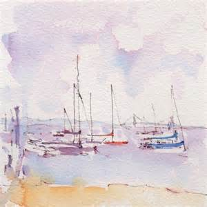 keyport harbor nj ink watercolor en plein air painting