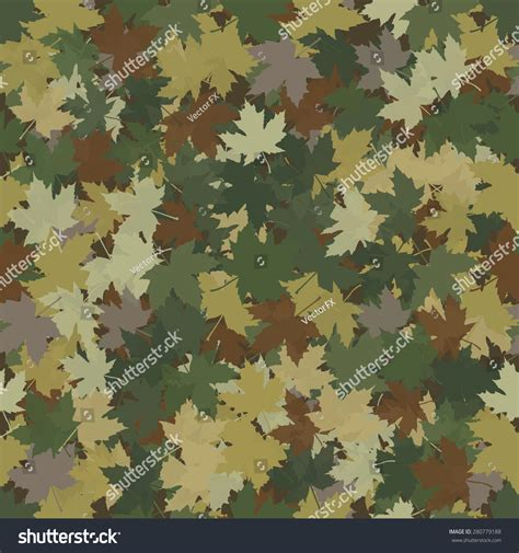 leaf pattern camouflage camouflage in the form of fallen maple leaves seamless