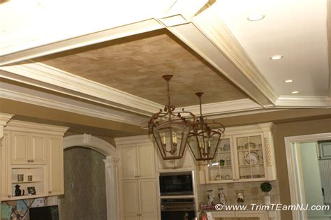 coffered ceilings and beams traditional kitchen by