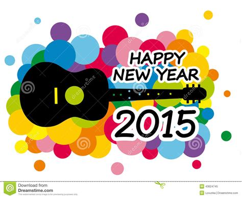 new year song 2015 happy new year stock vector image 43624745