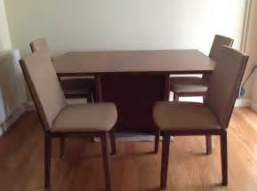 Walnut Dining Table And 4 Chairs Skovby Walnut Dining Table And Matching 4 Chairs 163 350 00