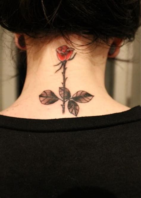 tattoo neck rose best tattoos single rose on neck tattoo dump a day