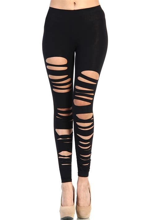 Legging Ripped ripped cut out black omgleggings