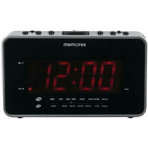 memorex soothing sounds alarm clock radio mc6306bka black