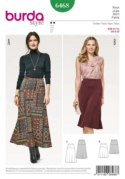 pattern sewing online burda style sewing pattern 6468 misses flared