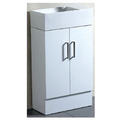 Free Standing Bathroom Cabinets Tiny 50 Bathroom Vanity Free Standing Unit Gloss Cabinet Basin Top White