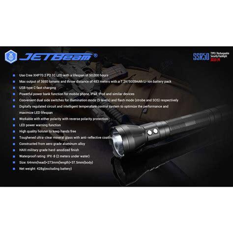 Jetbeam Ssr50 Senter Led Powerbank Cree Xhp70 2 P2 3650 Lumens jetbeam ssr50 senter led powerbank cree xhp70 2 p2 3650 lumens black jakartanotebook
