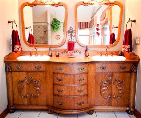 victorian style oak bathroom vanity pinandscroll com