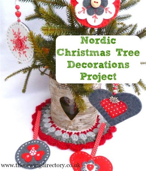 nordic tree decorations sewing projects