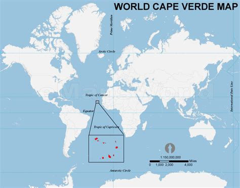 cape verde on a world map world cape verde map cape verde location in world