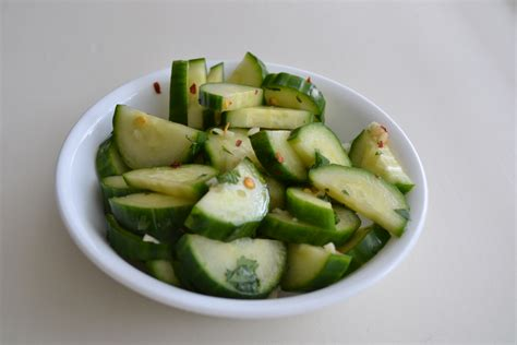 spicy cucumber salad fresh tasty easy bbq side dish good simple