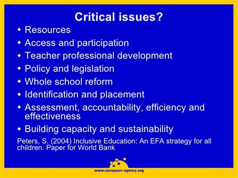 assessment in special and inclusive education inclusive education in european countries