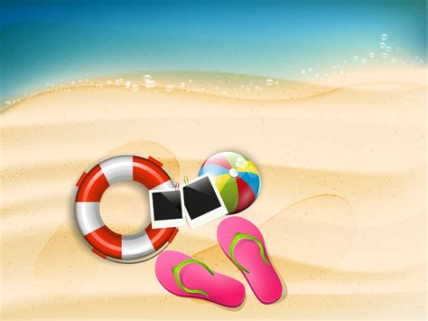 Happy Summer Holidays Backgrounds Design Holiday Templates Free Ppt Grounds And Powerpoint Summer Powerpoint Template