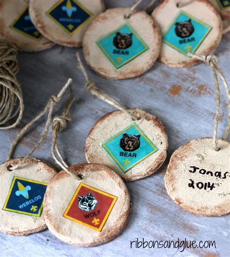cub scout christmas ornament ideas rustic salt dough ornaments