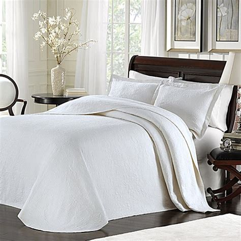 Bed 2 In 1 Matalase Mozat 100 buy lamont home majestic bedspread in white from bed bath beyond