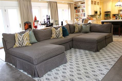 sofa sectional slipcovers custom slipcovers by shelley grey tweed sectional