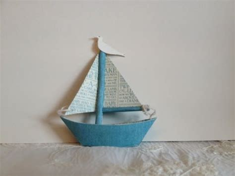 sailboat out of paper how to make a tiny paper sail boat for scrapbook decor