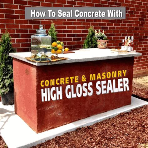 High Gloss Concrete Countertop Sealer by How To Seal Outdoor Concrete Countertops With Quikrete