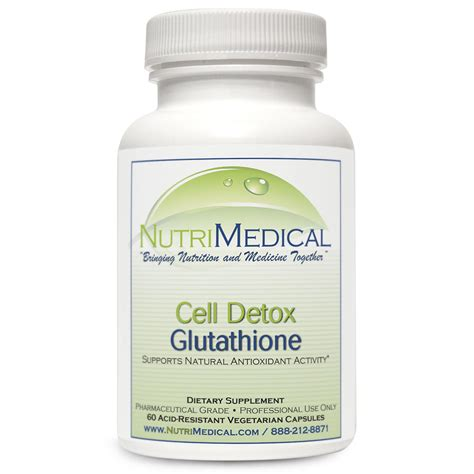 Detox Supplements Side Effects by Cell Detox Glutathione 60 Capsules Nutrimedical