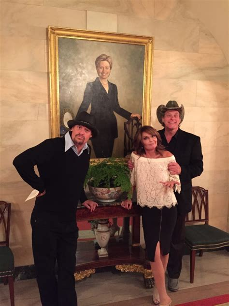 portrait house photos nugent palin kid rock visit president trump at