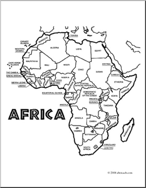 best photos of labeled outline map of africa blank