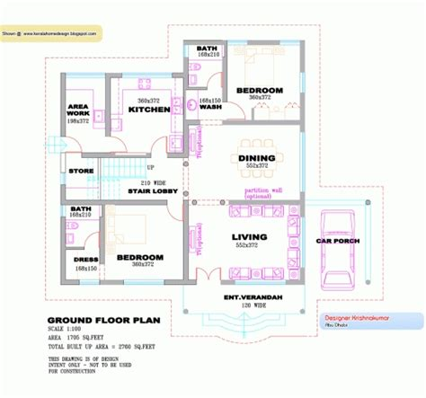 single house floor plan 3 bedroom house plans in kerala single floor bedroom and