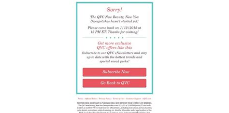 Http Www Qvc Com Sweepstakes - qvc new beauty new you sweepstakes