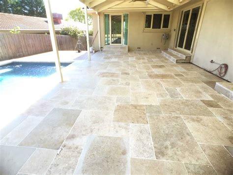 What Is A Backyard Garden Travertine French Pattern Patio