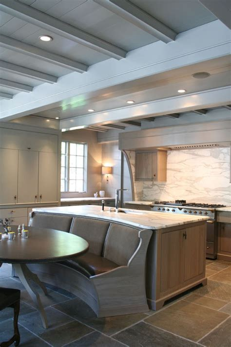 Kitchen Island With Bench Seating Space Savers Built In Island Banquette The Room
